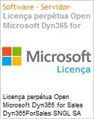 Licença perpétua Open Microsoft Dyn365 for Sales Dyn365ForSales SNGL SA OLP NL Academic [Educacional] [QLFD] Offer User CAL fromCRMPro  (Figura somente ilustrativa, não representa o produto real)