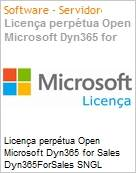 Licença perpétua Open Microsoft Dyn365 for Sales Dyn365ForSales SNGL LicSAPk OLP NL [QLFD] Offer User CAL fromCRMPro  (Figura somente ilustrativa, não representa o produto real)