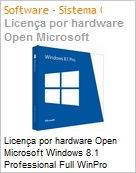 Licen�a por hardware Open Microsoft Windows 8.1 Professional Full WinPro 8.1 SNGL OLP NL Legalization Get Genuine Solution [GGS] Substitui Windows 7 FQC-02872 e 8 FQC-06488 (Figura somente ilustrativa, n�o representa o produto real)