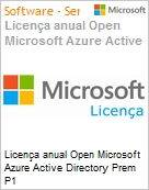 Licen�a anual Open Microsoft Azure Active Directory Prem P1 AzureActvDrctryPremP1Open ShrdSvr SNGL SubsVL OLP NL Annual Qualified [QLFD]  (Figura somente ilustrativa, n�o representa o produto real)