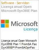 Licença anual Open Microsoft Dyn365E Plan 1 FromSA Fac Dyn365EP1FromSAOpnFac ShrdSvr SNGL OLP NL Annual Academic [Educacional] Offer fromCRMBsc (Figura somente ilustrativa, não representa o produto real)