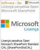 Licen�a perp�tua Open Microsoft SharePoint Standard CAL [SharePointStdCAL] SNGL [LicSAPk] Licen�a + Software Assurance OLP NL CAL User  (Figura somente ilustrativa, n�o representa o produto real)