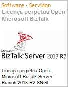 Licen�a perp�tua Open Microsoft BizTalk Server Branch 2013 R2 SNGL Academic OPEN 2 Licenses No Level Core License Qualified [QLFD]  (Figura somente ilustrativa, n�o representa o produto real)