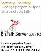 Licen�a perp�tua Open Microsoft BizTalk Server Branch 2013 R2 SNGL OPEN 2 Licenses No Level Core License Qualified [QLFD]  (Figura somente ilustrativa, n�o representa o produto real)