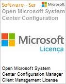 Open Microsoft System Center Configuration Manager Client Management License [SysCtrCnfgMgrCltML] SNGL [LicSAPk] Licen�a + Software Assurance OLP NL Acdmc [Educacional] PerUsr (Figura somente ilustrativa, n�o representa o produto real)