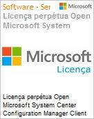 Licen�a perp�tua Open Microsoft System Center Configuration Manager Client Management License [SysCtrCnfgMgrCltML] SNGL [LicSAPk] [Licen�a + SA] OLP NL PerUsr (Figura somente ilustrativa, n�o representa o produto real)