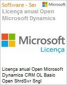 Licen�a anual Open Microsoft Dynamics CRM OL Basic Open ShrdSvr Sngl SubscriptionVL OLP 1License NoLevel Qualified [QLFD] Annual  (Figura somente ilustrativa, n�o representa o produto real)