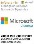 Licen�a anual Open Microsoft Dynamics CRM OL Storage Open ShrdSvr Sngl SubscriptionVL OLP 1License NoLevel AddOn Qualified [QLFD] Annual  (Figura somente ilustrativa, n�o representa o produto real)