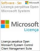 Licen�a perp�tua Open Microsoft System Control Client Management Suite SysCtrCltMgmtSte SNGL [LicSAPk] Licen�a + Software Assurance OLP NL PerOSE (Figura somente ilustrativa, n�o representa o produto real)