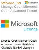 Licen�a Open Microsoft Open Advanced Threat Analytics CltMgtLic [LicSA] Licen�a + Software Assurance OLP NL Per USER  (Figura somente ilustrativa, n�o representa o produto real)