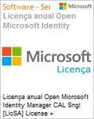 Licen�a anual Open Microsoft Identity Manager CAL Sngl [LicSA] License + SoftwareAssurance Pack Academic OLP 1License NoLevel User CAL [EDUCACIONAL] (Figura somente ilustrativa, n�o representa o produto real)