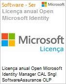 Licen�a anual Open Microsoft Identity Manager CAL Sngl SoftwareAssurance OLP 1License NoLevel User CAL  (Figura somente ilustrativa, n�o representa o produto real)