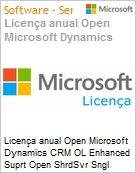 Licen�a anual Open Microsoft Dynamics CRM OL Enhanced Suprt Open ShrdSvr Sngl SubscriptionVL OLP 1License NoLevel Qualified [QLFD] Annual  (Figura somente ilustrativa, n�o representa o produto real)
