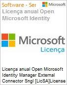 Licen�a anual Open Microsoft Identity Manager External Connector Sngl [LicSA]License + Software Assurance Pack Academic OLP 1License NoLevel Qualified [QLFD] [EDUCACIONAL] (Figura somente ilustrativa, n�o representa o produto real)