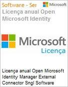 Licen�a anual Open Microsoft Identity Manager External Connector Sngl Software Assurance Academic OLP 1License NoLevel Qualified [QLFD] [EDUCACIONAL] (Figura somente ilustrativa, n�o representa o produto real)