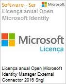 Licen�a anual Open Microsoft Identity Manager External Connector 2016 Sngl Academic OLP 1License NoLevel Qualified [QLFD] [EDUCACIONAL]  (Figura somente ilustrativa, n�o representa o produto real)