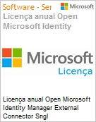 Licen�a anual Open Microsoft Identity Manager External Connector Sngl SoftwareAssurance OLP 1License NoLevel Qualified [QLFD]  (Figura somente ilustrativa, n�o representa o produto real)