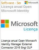 Licen�a anual Open Microsoft Identity Manager External Connector 2016 Sngl OLP 1License NoLevel Qualified [QLFD]  (Figura somente ilustrativa, n�o representa o produto real)
