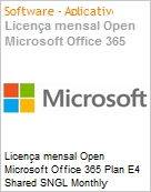Licen�a anual Open Microsoft Office 365 Plan E4 Shared SNGL Monthly Subscriptions 1 NL Qualified [QLFD] Annual  (Figura somente ilustrativa, n�o representa o produto real)