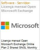 Licen�a mensal Open Microsoft Exchange Online Plan 2 Shared SNGL Monthly Subscriptions 1 NL Qualified [QLFD] Annual  (Figura somente ilustrativa, n�o representa o produto real)