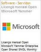Licen�a mensal Open Microsoft Yammer Enterprise Open Shared SNGL Monthly Subscriptions-Volume License OPEN 1 License No Level Qualified [QLFD] Annual (Figura somente ilustrativa, n�o representa o produto real)