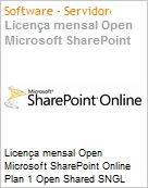 Licença mensal Open Microsoft SharePoint Online Plan 1 Open Shared SGNL Monthly Subscriptions-Volume License OPEN 1 License No Level [Qualified] [QLFD] Annual (Figura somente ilustrativa, não representa o produto real)