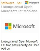 Licença anual Open Microsoft Ent Mob and Security A3 Open Add-on EntMobSecurityA3OpnAddon ShrdSvr SGNL SubsVL OLP NL Annual Academic [Educacional] Fclty (Figura somente ilustrativa, não representa o produto real)