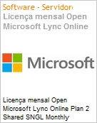 Licen�a mensal Open Microsoft Lync Online Plan 2 Shared SNGL Monthly Subscriptions 1 NL Qualified [QLFD] Annual  (Figura somente ilustrativa, n�o representa o produto real)