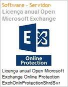 Licença anual Open Microsoft Exchange Online Protection ExchOnlnProtectionShrdSvr SGNL SubsVL OLP NL Annual [Qualified] [QLFD]  (Figura somente ilustrativa, não representa o produto real)