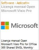 Licença mensal Open Microsoft Visio Pro for Office 365 Shared SNGL Monthly Subscriptions 1 NL Qualified [QLFD] Annual  (Figura somente ilustrativa, não representa o produto real)