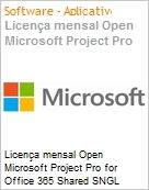 Licen�a mensal Open Microsoft Project Pro for Office 365 Shared SNGL Monthly Subscriptions 1 NL Qualified [QLFD] Annual  (Figura somente ilustrativa, n�o representa o produto real)