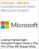 Licen�a mensal Open Microsoft Project Online w Proj Pro Office 365 Shared SNGL Monthly Subscriptions 1 NL Qualified [QLFD] Annual  (Figura somente ilustrativa, n�o representa o produto real)