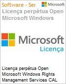 Licen�a perp�tua Open Microsoft Windows Rights Management Services CAL 2016 WinRghtsMgmtSrvcsCAL SNGL OLP NL Academic [Educacional] User CAL  (Figura somente ilustrativa, n�o representa o produto real)