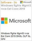 Licença perpétua Open Microsoft Windows Rights Management Services Rghts Mgmt Srvcs External Connections 2019 SGNL OLP NL [Qualified]  (Figura somente ilustrativa, não representa o produto real)