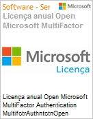 Licen�a anual Open Microsoft MultiFactor Authentication MultifctrAuthntctnOpen ShrdSvr SNGL SubsVL OLP NL Annual Qualified [QLFD]  (Figura somente ilustrativa, n�o representa o produto real)
