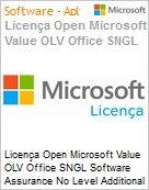 Licença Open Microsoft Value OLV Office SGNL Software Assurance No Level Additional Product 1 Year Acquired year 2  (Figura somente ilustrativa, não representa o produto real)