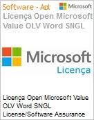Licença Open Microsoft Value OLV Word SNGL License/Software Assurance Pack [LicSAPk] No Level Additional Product 2 Year Acquired year 2  (Figura somente ilustrativa, não representa o produto real)