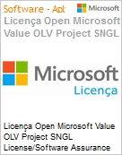 Licen�a Open Microsoft Value OLV Project SNGL License/Software Assurance Pack [LicSAPk] No Level Additional Product 2 Year Acquired year 2  (Figura somente ilustrativa, n�o representa o produto real)