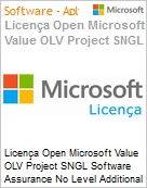 Licen�a Open Microsoft Value OLV Project SNGL Software Assurance No Level Additional Product 1 Year Acquired year 3  (Figura somente ilustrativa, n�o representa o produto real)