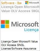 Licença Open Microsoft Value OLV Access SNGL License/Software Assurance Pack [LicSAPk] No Level Additional Product 1 Year Acquired year 3  (Figura somente ilustrativa, não representa o produto real)