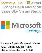 Licença Open Microsoft Value OLV Visual Studio Team Foundation Server SNGL License/Software Assurance Pack [LicSAPk] No Level Additional Product 1 Year Acquired year 2 (Figura somente ilustrativa, não representa o produto real)