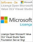 Licença Open Microsoft Value OLV Visual Studio Team Foundation Server Sngl Software Assurance 1 License No Level Additional Product MPN Competency Required 1 Ye (Figura somente ilustrativa, não representa o produto real)