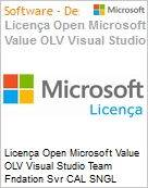 Licença Open Microsoft Value OLV Visual Studio Team Fndation Svr CAL SNGL Software Assurance No Level Additional Product User CAL User CAL 3 Year Acquired ye (Figura somente ilustrativa, não representa o produto real)