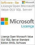 Licença Open Microsoft Value OLV SQL Server Standard Edition SNGL Software Assurance No Level Additional Product 1 Year Acquired year 2  (Figura somente ilustrativa, não representa o produto real)