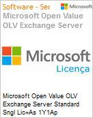 Licen�a Open Microsoft Value OLV Exchange Server Standard SNGL Lic+As 1Y1Ap  (Figura somente ilustrativa, n�o representa o produto real)