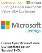 Licença Open Microsoft Value OLV Exchange Server Standard SNGL License/Software Assurance Pack [LicSAPk] No Level Additional Product 1 Year Acquired year 3 (Figura somente ilustrativa, não representa o produto real)