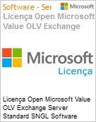 Licença Open Microsoft Value OLV Exchange Server Standard SNGL Software Assurance No Level Additional Product 1 Year Acquired year 2  (Figura somente ilustrativa, não representa o produto real)