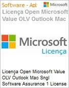 Licença Open Microsoft Value OLV Outlook Mac Sngl Software Assurance 1 License No Level Additional Product 2 Year Acquired year 2  (Figura somente ilustrativa, não representa o produto real)