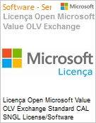 Licença Open Microsoft Value OLV Exchange Standard CAL SNGL License/Software Assurance Pack [LicSAPk] No Level Additional Product User CAL User CAL 1 Year Acquired year (Figura somente ilustrativa, não representa o produto real)