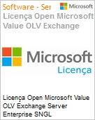 Licença Open Microsoft Value OLV Exchange Server Enterprise SNGL License/Software Assurance Pack [LicSAPk] No Level Additional Product 2 Year Acquired year 2 (Figura somente ilustrativa, não representa o produto real)